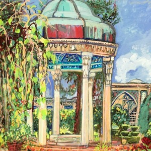 Hafez's tomb shrine 4 by Laurie Blum