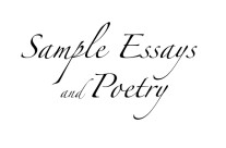 Sample Essays and Poetry